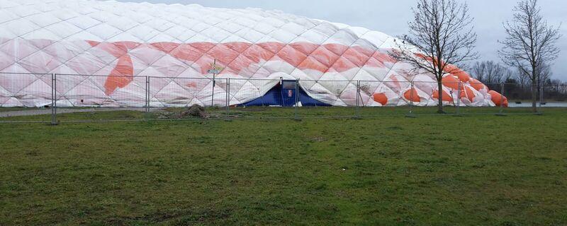 Traglufthalle Flüchtlingsunterkunft neubiberg, © Traglufthalle in Neubiberg