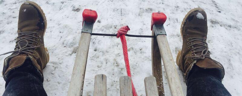 schlitten im schnee, © Nach Eiseskälte folgt nun Tauwetter.