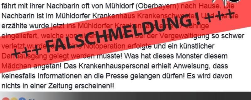 Falschmeldung, Polizei, HOAX, © Screenshot des Posts der Polizei