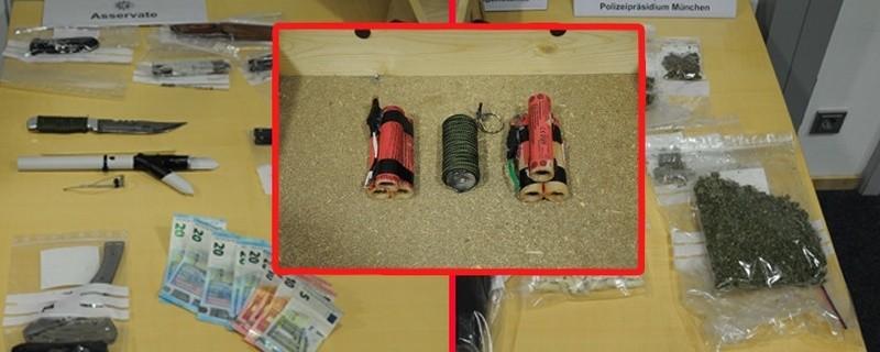 © Die Polizei fand etliche verbotene Gegenstände bei den 16-Jährigen - Foto Polizei