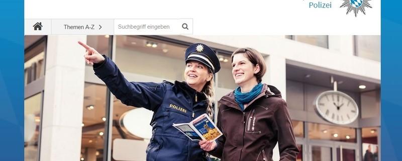 Die bayerische Polizei hat einen neuen Internet-Auftritt., © Der neue Web-Auftritt der bayerischen Polizei.