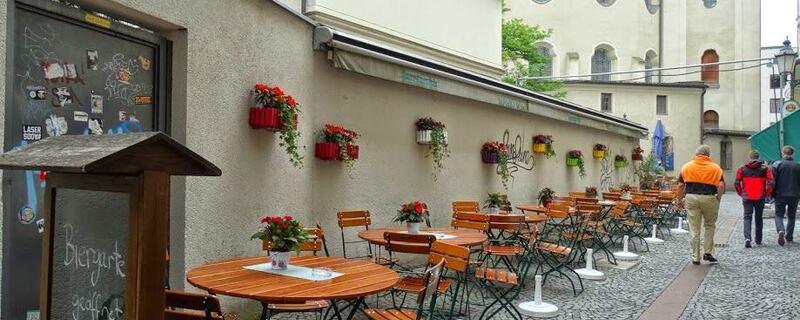 Leerer Biergarten am Viktualienmarkt, © Symbolbild - Foto: Agnes aus München