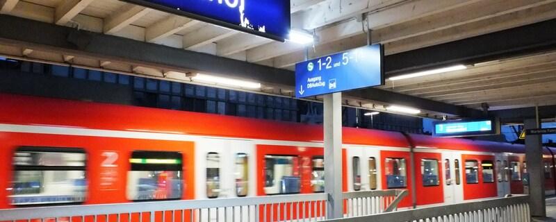 Eine S-Bahn am Ostbahnhof, © Foto: Bundespolizei Symbolfoto