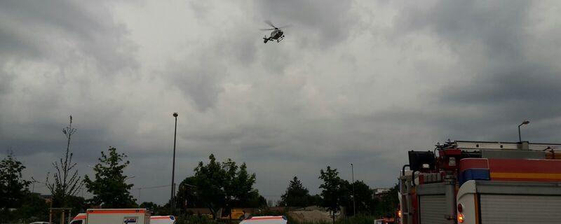 Hubschrauber kreisen nach Schiesserei in München, © Symbolbild.