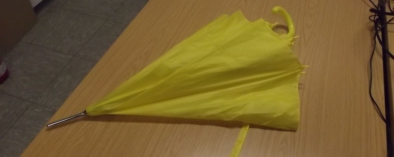 Gelber Regenschirm, © Bundespolizei