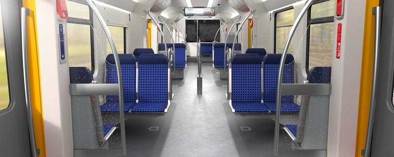 © In der modernisierten S-Bahn weitet sich der Durchgang zum Sitzbereich deutlich. Bild: BEG