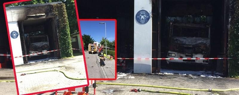 Großer Schaden nach den Brand bei de rFeuerwehr