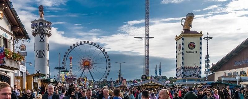 Ausblick auf die Wiesn - Oktoberfest in München
