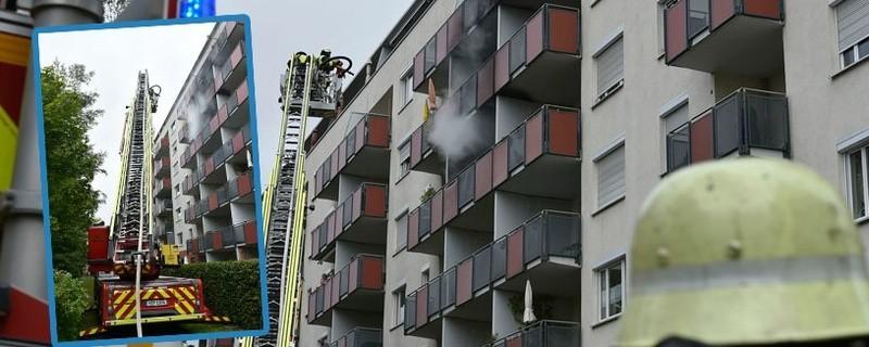 Störendes Wespennest: Frau fackelt Balkon in der Fritz-Meyer-Strasse ab, © Foto der Berufsfeuerwehr München