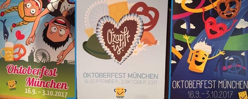 © So sieht das Wiesn-Plakat 2017 aus (mitte) Auch der Oktoberfest-Krug wird danach gestaltet