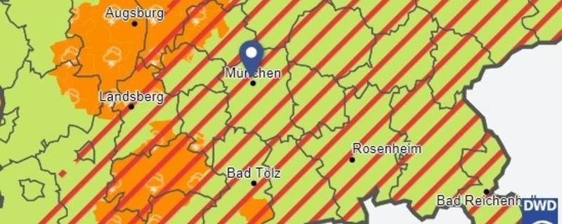 © Screenshot: Deutscher Wetter Dienst