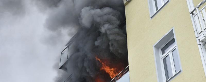 Feuer am Wochenende in der Barer Straße, © Foto: Berufsfeuerwehr München