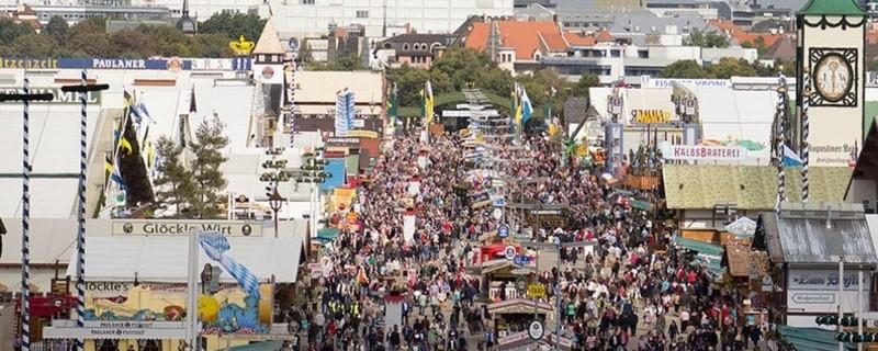 Oktoberfest: Die Münchner Wiesn von oben