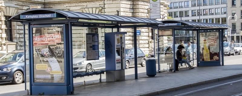 Tram-Haltestelle in München