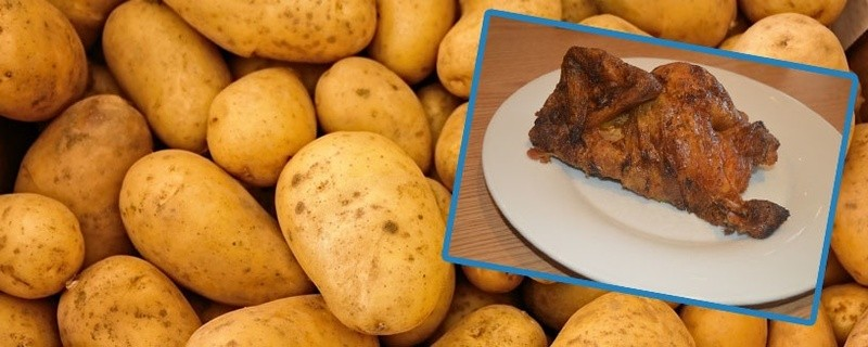 Gickerl oder Hendl, Kartoffeln oder Erdäpfel