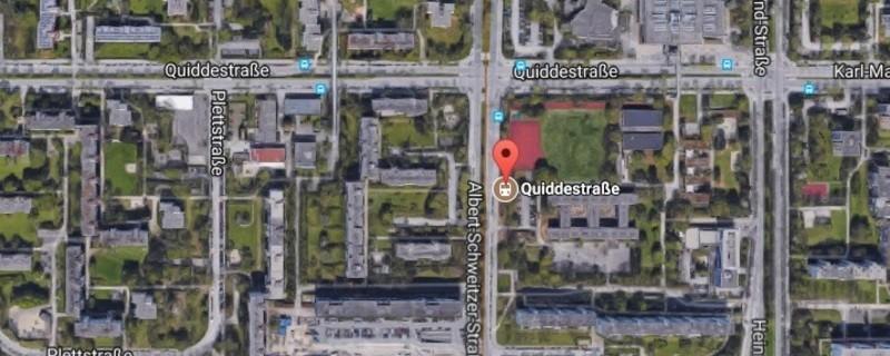 Haltestelle Quiddestrasse in München