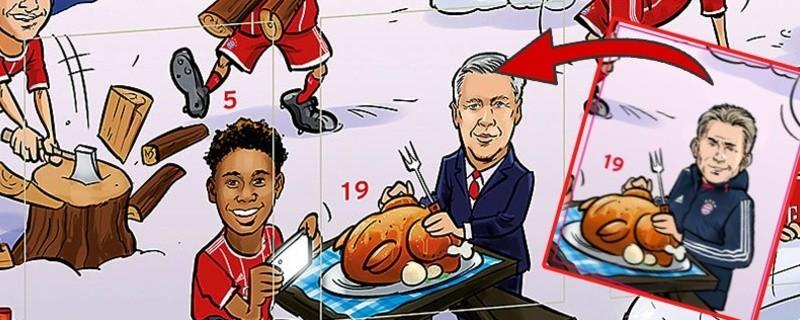 © Auf dem FC Bayern Kalender kann man Ancelotti nun mit Heynckes überkleben.