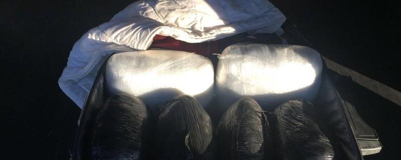 Der durchsuchte Koffer enthielt 6 Kilo Marihuana, © Foto: Bundespolizei