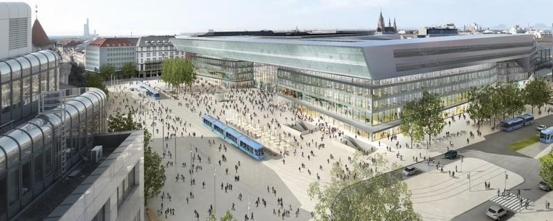 © So soll der Hauptbahnhof in Zukunft aussehen: Bild: Deutsche Bahn AG / Architekten Auer Weber Assoziierte