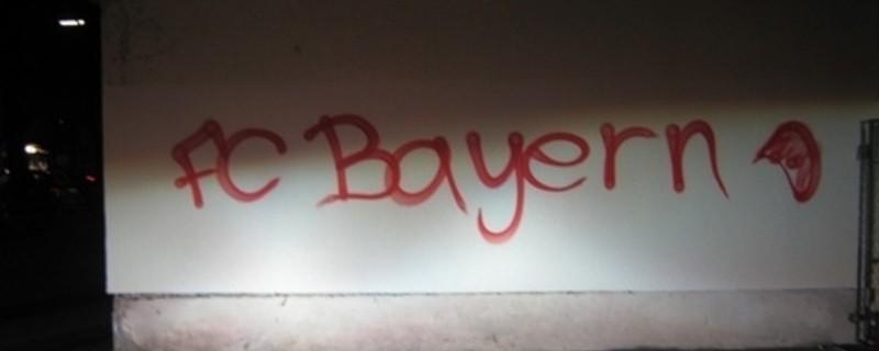 Fc Bayern Grafitti Schwabing, © Foto: Polizei