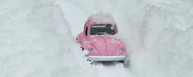 Im Schnee steckenbleiben Winterdienst