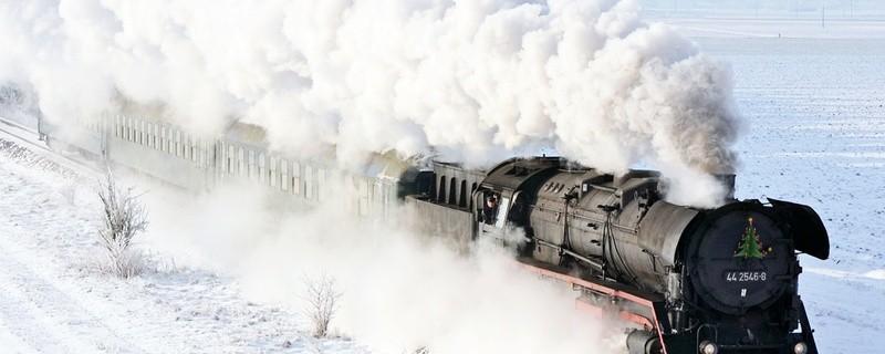 Mit der Dampflok durch die winterliche Landschaft, © Foto: Bayerisches Eisenbahnmuseum