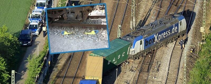 """© Laut Angaben der Bundespolizei sorgte ein vergessener """"Hemmschuh"""" dafür, dass der Zug entgleiste"""