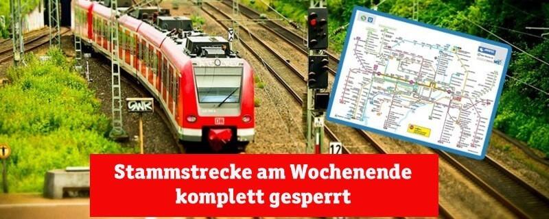 Stammstrecke der Münchner S-Bahn - Sperrung am Wochenende