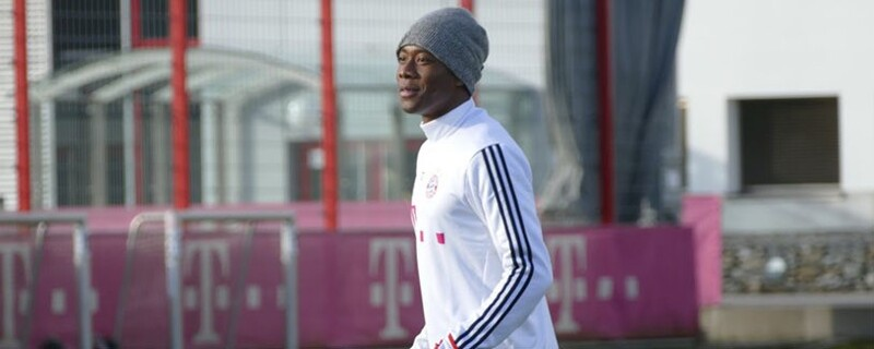 David Alaba beim FC-Bayern-Training