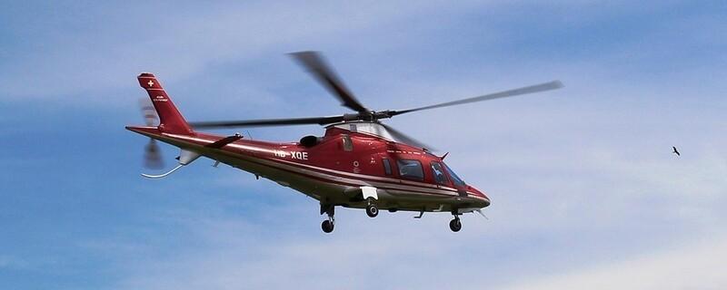 Ein Hubschrauber im Rettungseinsatz , © Symbolfoto