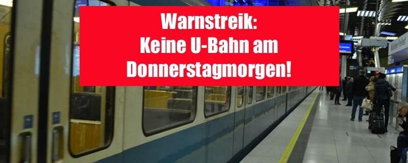 Keine U-Bahn wegen Warnstreik - Bus und Tram eingeschränkt