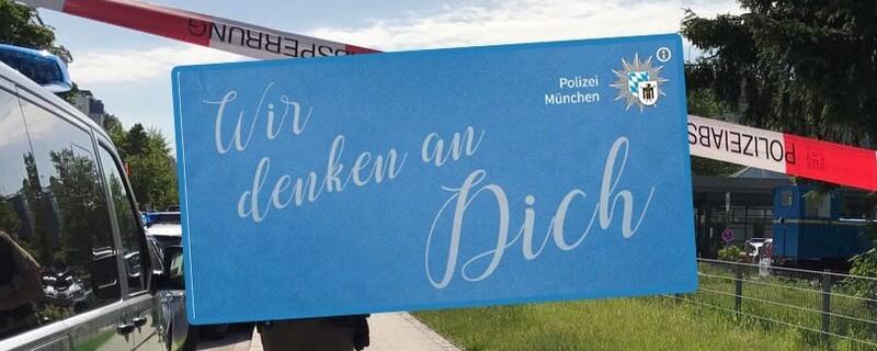 Münchner Polizei gedenkt verletzter Kollegin nach Kopfschuss in Unterföhring