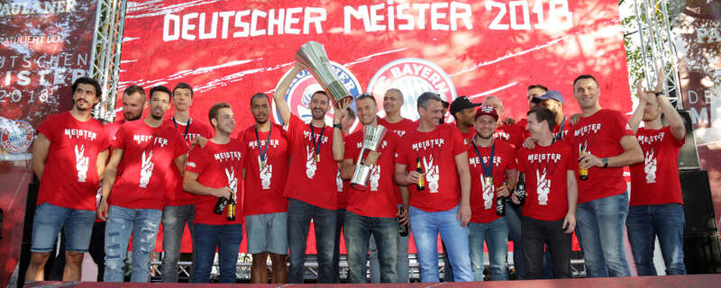 Meisterfeier FC Bayern Basketball , © Foto: Paulaner/sampics