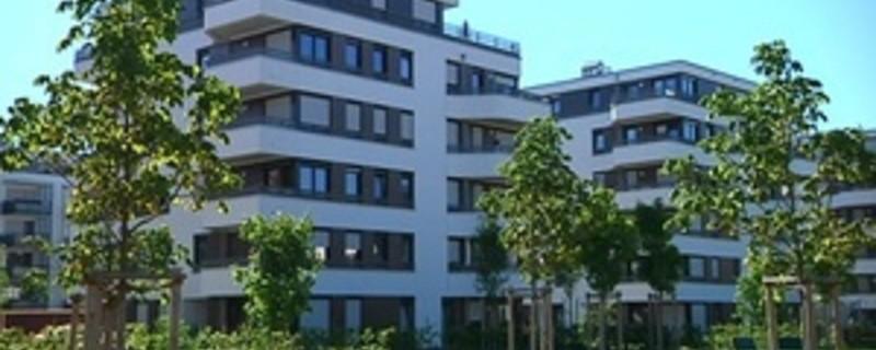 Gebiet mit Mietwohungen in München