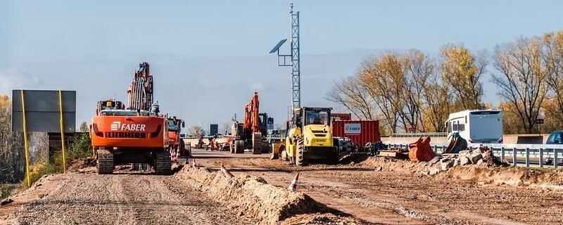 Baustelle auf einer Autobahn, © Symbolfoto