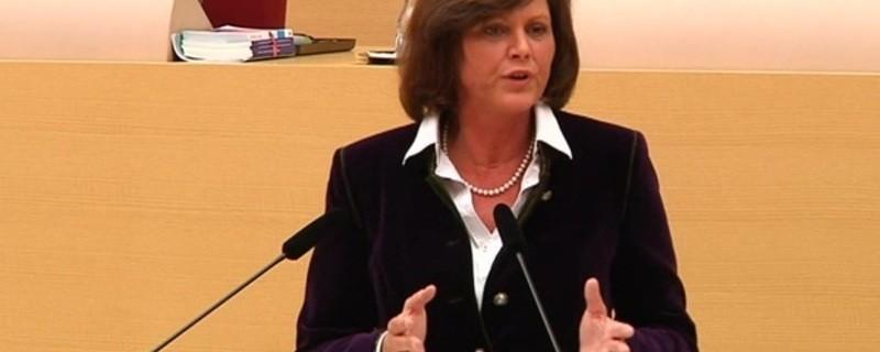 Wirtschaftsministerin Ilse Aigner spricht im bayerischen Landtag, © Ilse Aigner im Landtag