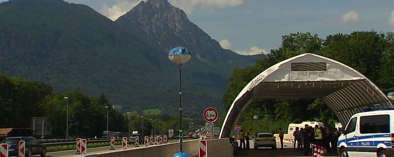 Kontrollen an der deutsch-österreichischen Grenze
