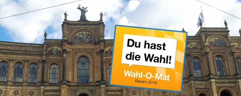 Der Wahl-O-Mat 2018 für die Bayerische Landtagswahl