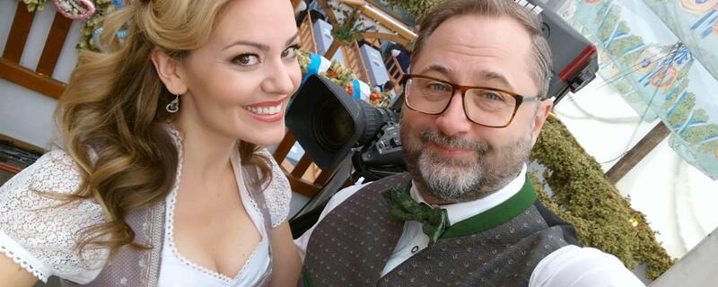 Monika Eckert und Alex Onken im Hofbräu auf der Wiesn