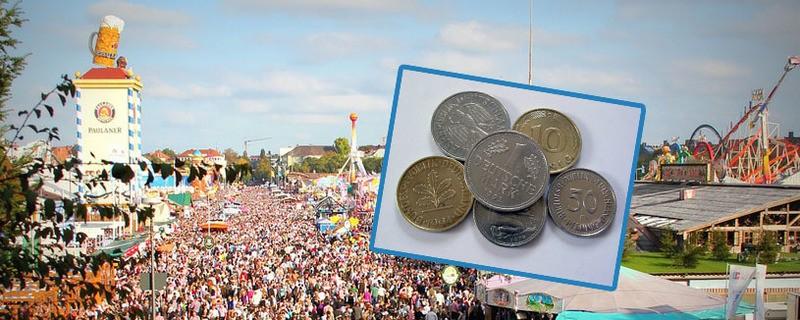 Umtausch: Auf der Wiesn kann DM in Euro gewechselt werden