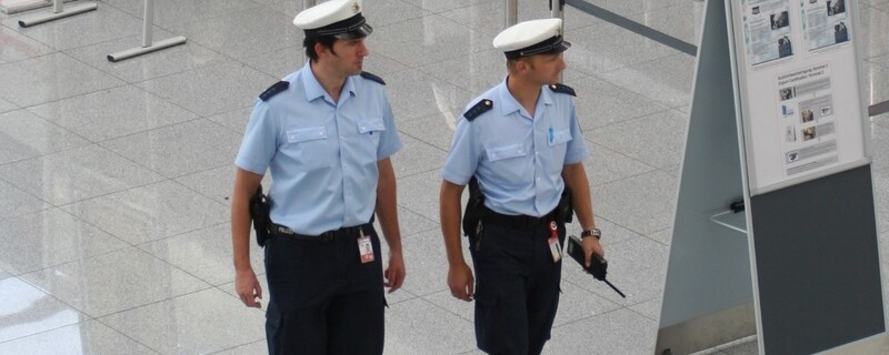 Bundespolizisten am Münchner Flughafen, © Foto der Bundespolizei