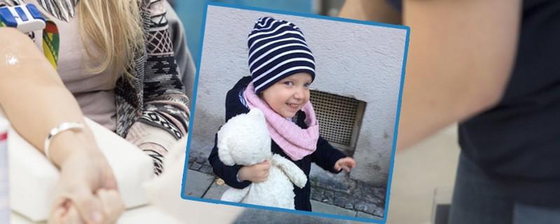 Typisierungsaktion für die kleine Sophie in München