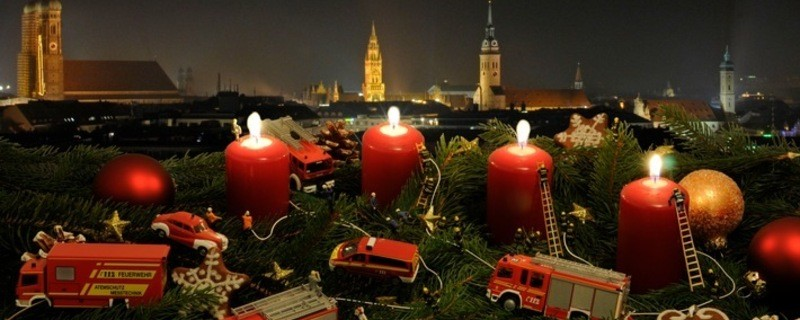 Adventskerzen, © Feuerwehr München