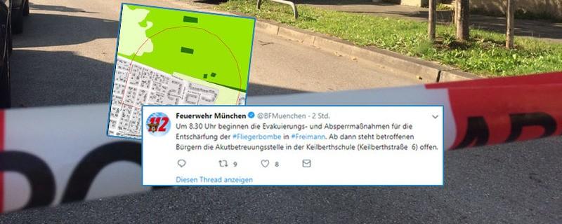 Entschärfung Fliegerbombe: In diesem Radius müssen die Anwohner ihre Wohnungen verlassen