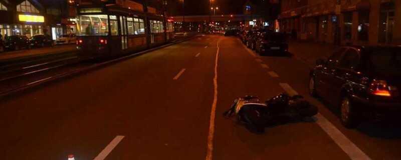 Roller, Unfall, © Polizei München