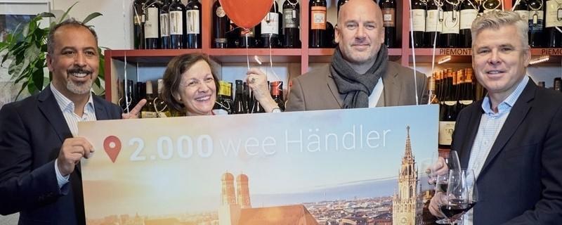 """""""wee"""" begrüßt den 2.000ten Händler, © weeCom GmbH"""