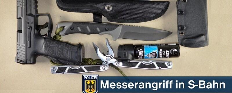 Messerangriff in S-Bahn, © Bundespolizei