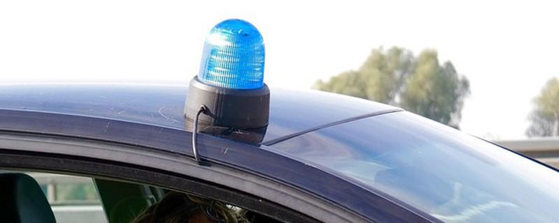Blaulicht auf einem Autodach, © Symbolfoto