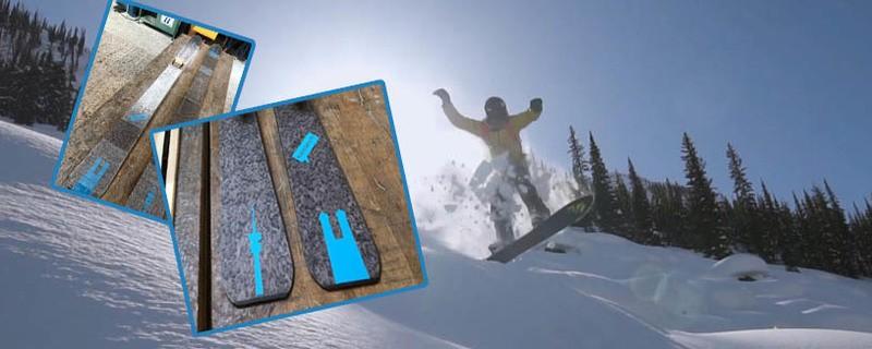 Ein Skifahrer mit den exklusiven münchen.tv-Ski - passend zum Thementag Ski and Snow