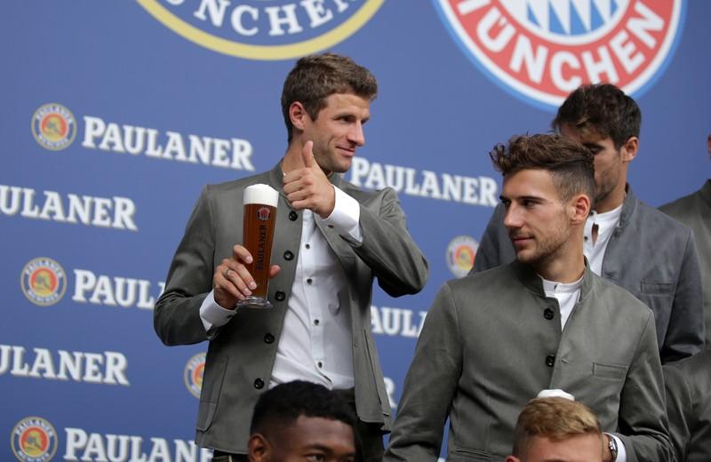 FC Bayern Lederhosen Shooting Wiesn Oktoberfest 2018, © Paulaner Brauerei München